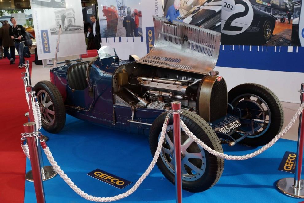 En alldeles nyrenoverad Bugatti T51A ställdes ut av logistikföretaget GEFCO. Den tävlade på LeMans sista gången 1937 rattad av Anne-Cécile Itier, en av 1930-talets kvinnliga racingess.