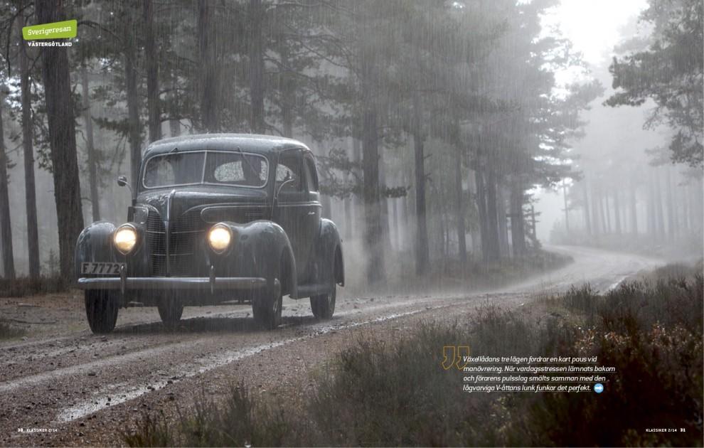 Likt Bonnie & Clyde smiter vi iväg i en Ford Tudor -39. I samma ögonblick slår sommaren om till höst. Sverigeresan.