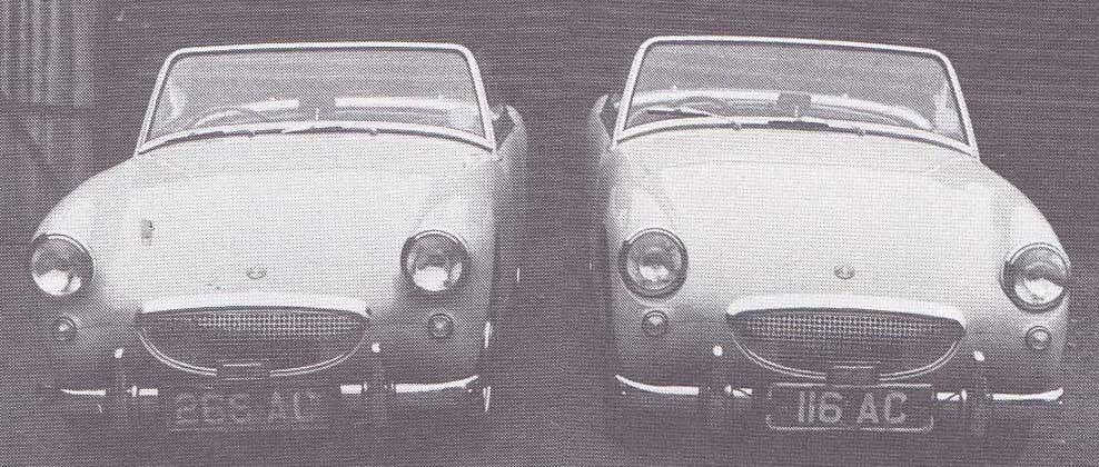 De här två muntra små bilarna kommer också från Jensen och är prototyper för Austin-Healey Sprite.