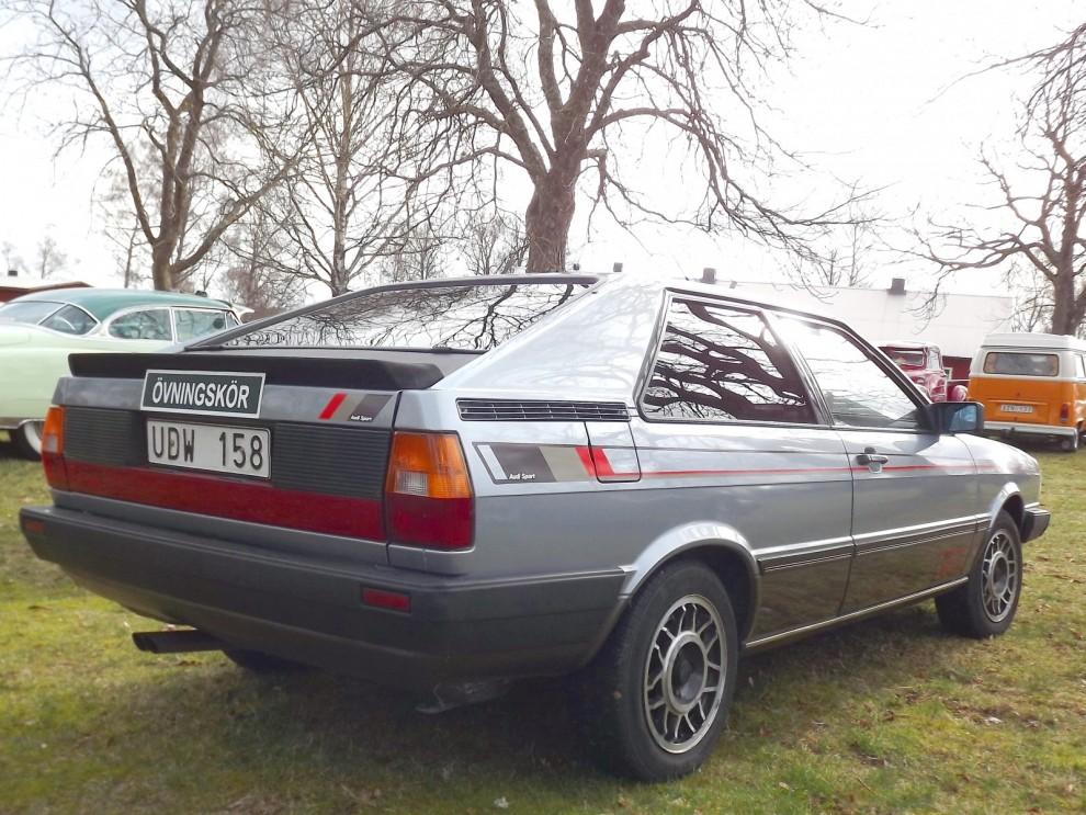 Tuffaste övningskörningsbilen den här helgen, Audi Coupé.
