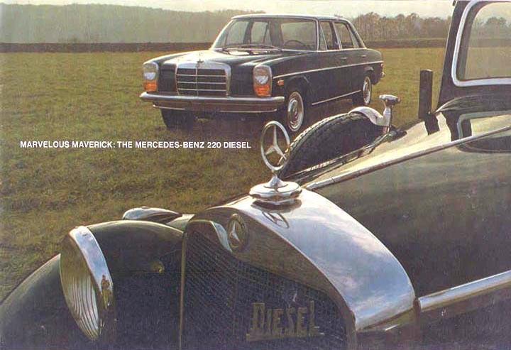 Mercedes 220 i Usa 1968, den nya kompaktmercan låg rätt i tiden.