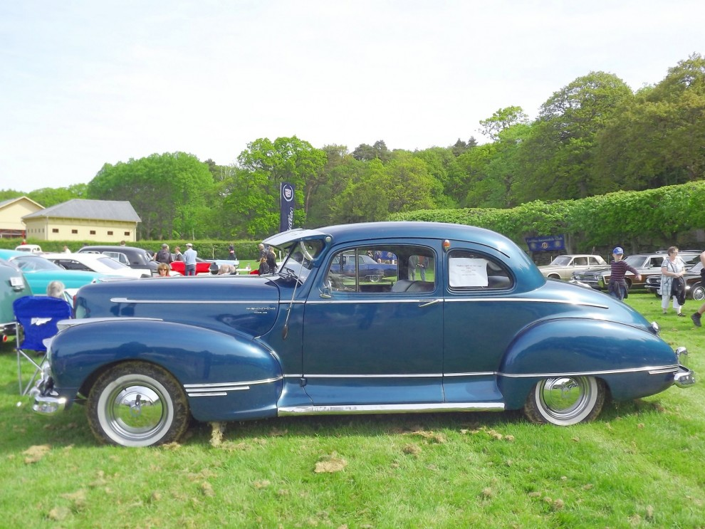 Hudson finns inte heller bland oss, denna fina Super Six från 1947 är svensksåld.