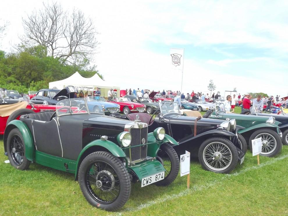 Trångt i MG-rutan som vanligt, äldst var denna M-type från 1929