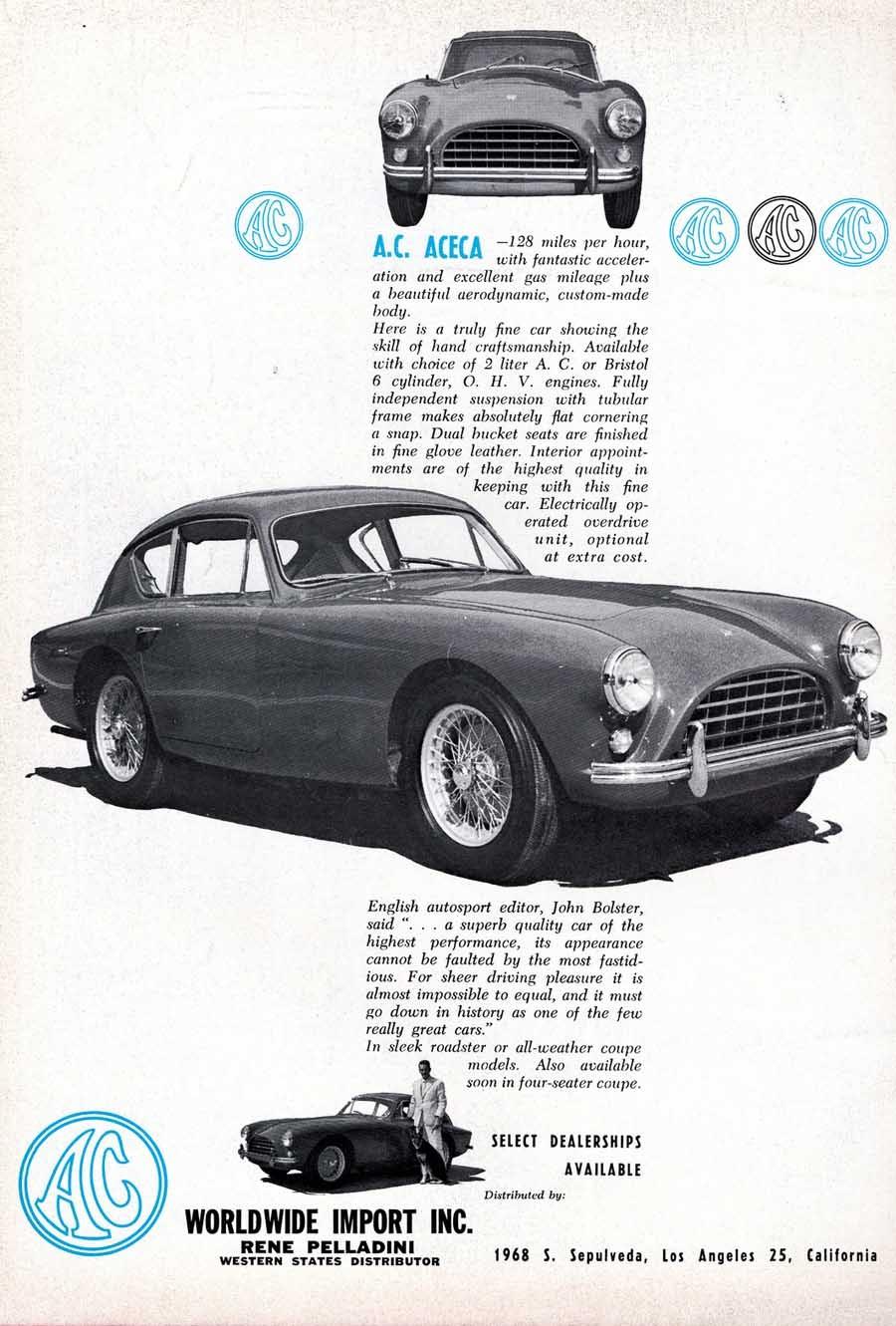 AC Aceca var en sällsynt raritet både i USA och annorstädes, bara 151 stycken av den vackra coupén gjordes.