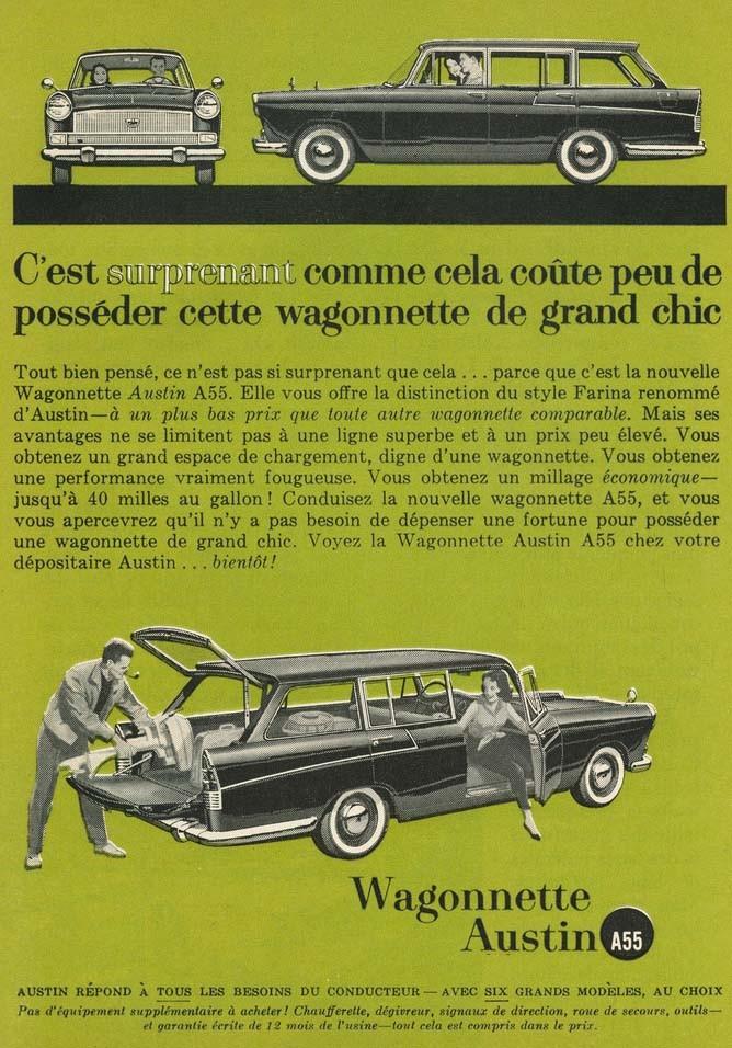 Austin A55 kombi för Kanada 1961