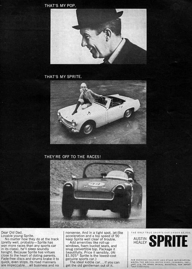 Austin Helaey Sprite var kanske ett nummer för liten för USA och vann inte samma popularitet som den större 3000 hade haft.