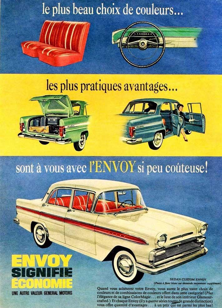 I Kanada sålde man även Vauxhall via Pontiac, och då hette dom Envoy. Grill och detaljer skiljde Envoyen från sina brittiska artfränder också.