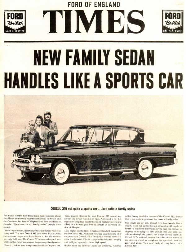 Ford Consul för Kanada 1962