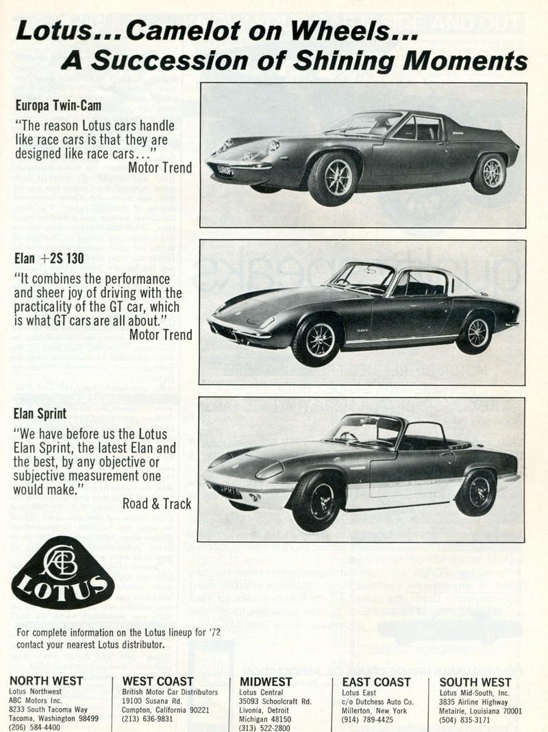 Lotus modeller 1972