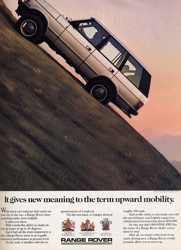 Range Rover var lite mer upmarket, en SUV innan SUV:en fanns.