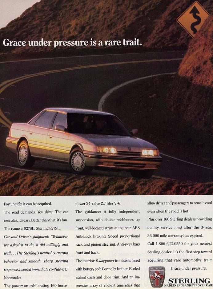 Rover Sterling såldes som bara Sterling i USA 1989.