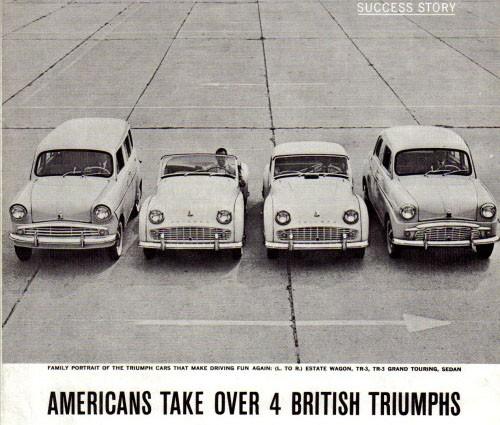 Triumphs sportbilar sålde också bra, såpass att man lät Standards bilar rida på berömmelsen och kalla dom Triumph där också.