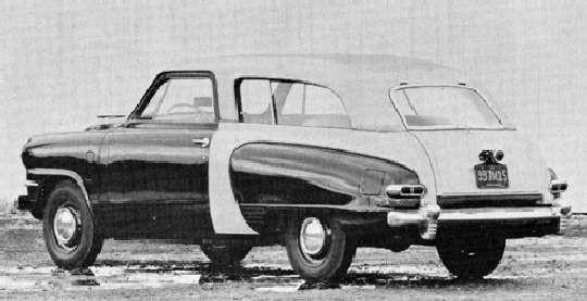 Direkt efter kriget så gjordes det många spännande prototyper hos Studebaker, bland annat denna wagon med stora delar av karossen i plast.