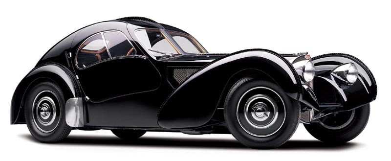 Som ju hade sin namnföregångare i Bugatti type 57 Atlantic coupén