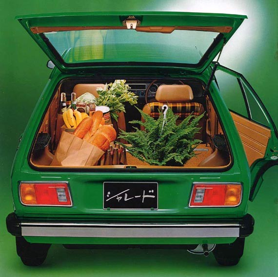Grönt och matnyttigt i Daihatsu Charade 1979