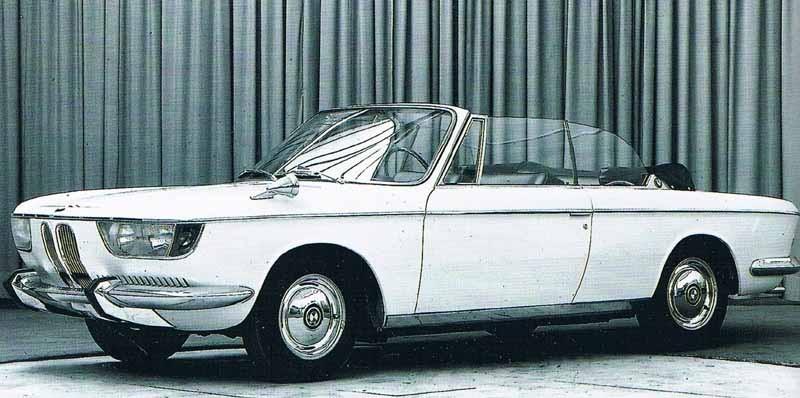 """En BMW 2000CS """"hajnos""""  cabriolet hade varit något.  Men bara ett enda exemplar byggdes på prov, av Karmann."""