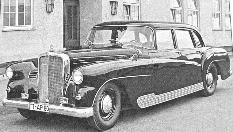 En del äldre Maybachbilar att förses med modernare karosser från Spohn. Denna Maybach karosserades om 1949.