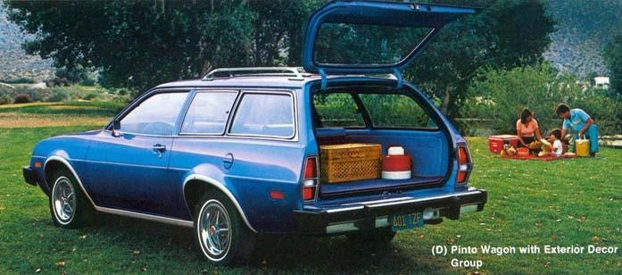 Så hoppar vi fram till 1979 och bilarna har krympt lite grann, Ford Pinto.