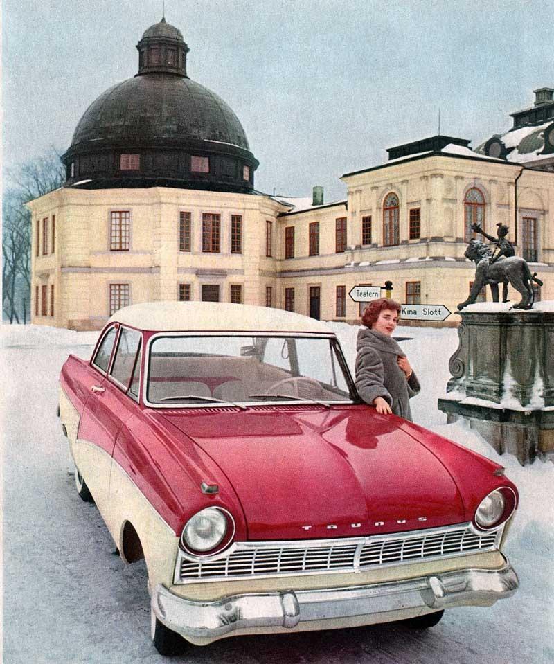 En vinterdag 1959 ute vid Drottningholm.