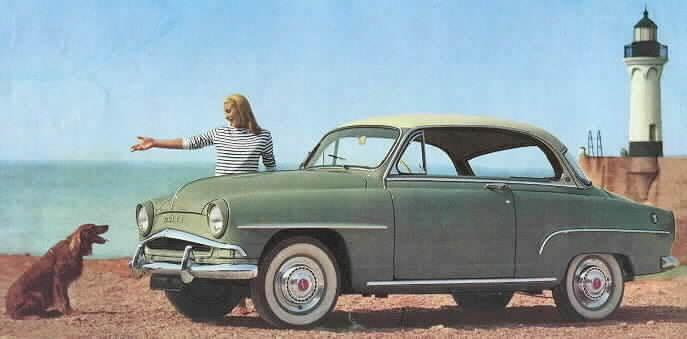 Sitt fint! Vid mattes fina Simca Aronde Grand Large coupe, året är 1958.