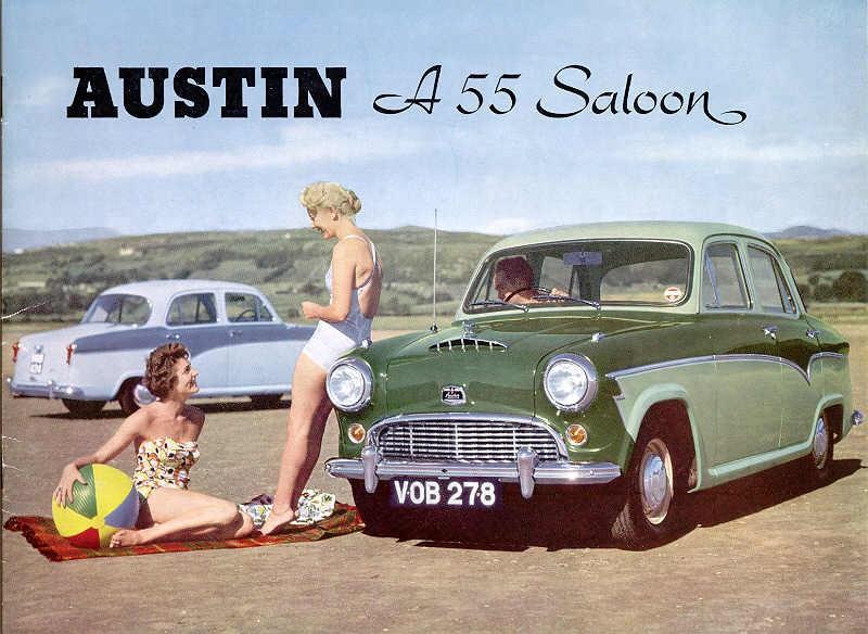 Badflickor med Austin A55 1957