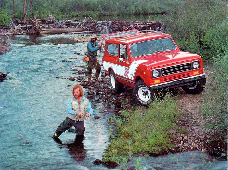 International Scout var fordonet för den som ville komma till de mer otillgängliga fiskeställena 1978