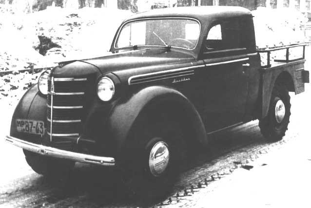 En farmartruck men från lite annorlunda håll, Sovjet. En prototyp för en liten käck pickup från Moskvitch 1947