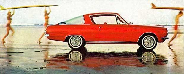 Barracuda i vattenbrynet, surfarbilen med stil 1965