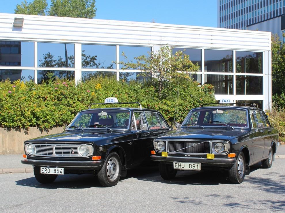 Tidsenliga taxibilar.