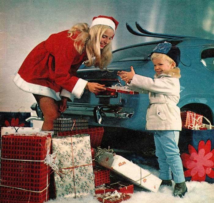 Tomtens söta hjälpredor körde Ford Capri