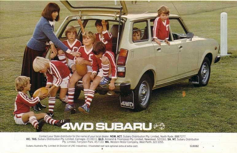 Skall hela knattelaget med? Inga problem om man kör Subaru...