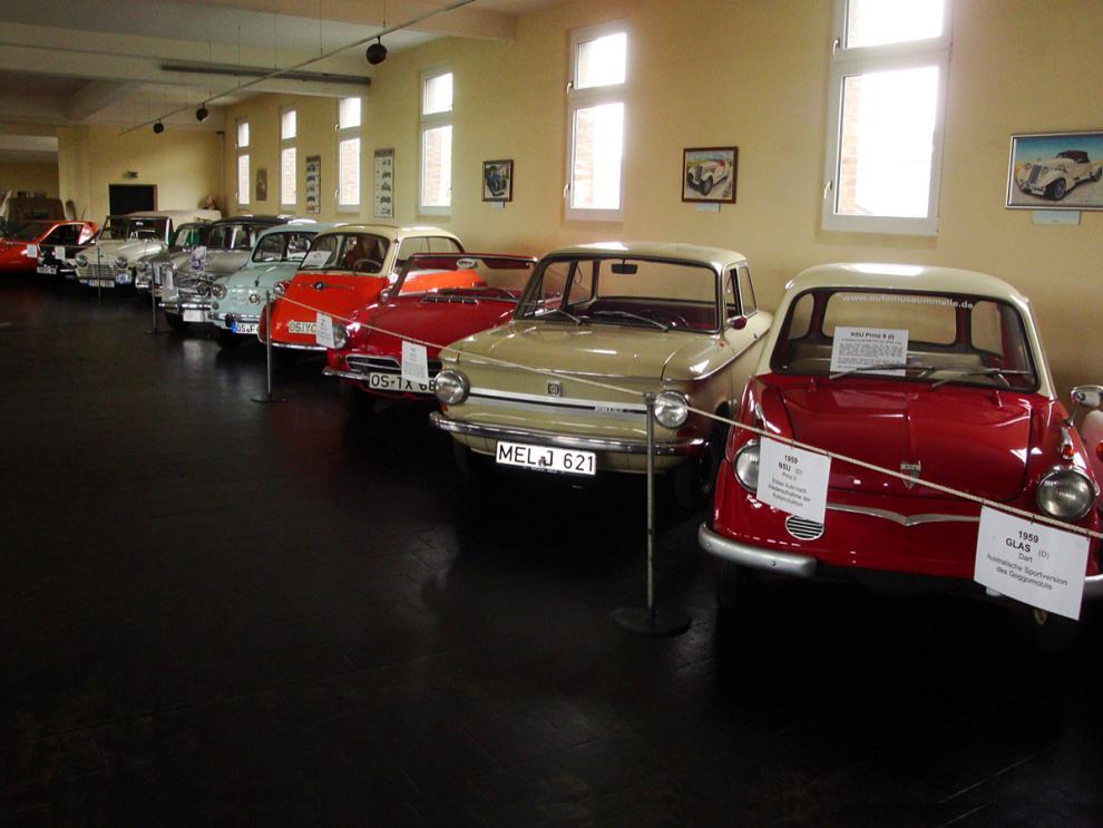 Småbilar på Automuseum Melle
