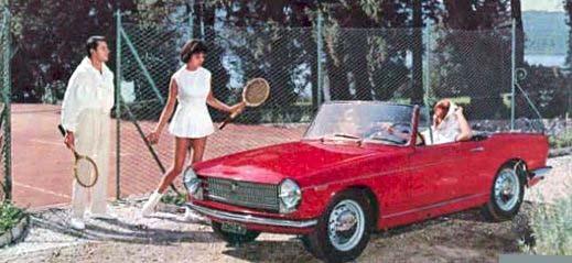 Från Italien, Innocenti C med plats för två personer och kanske två racketar.