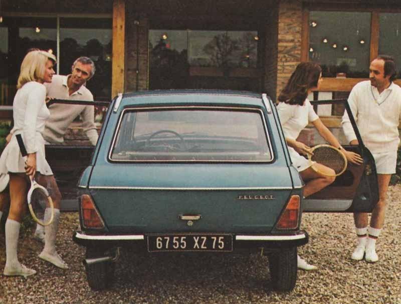 Mixed double med Peugeot 304 break