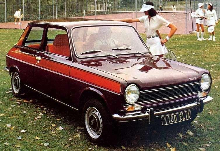 Specialmodellen Simca 1100 Elix hade tvåtonslack som gav den nästan lite sportig attityd, bara nästan.