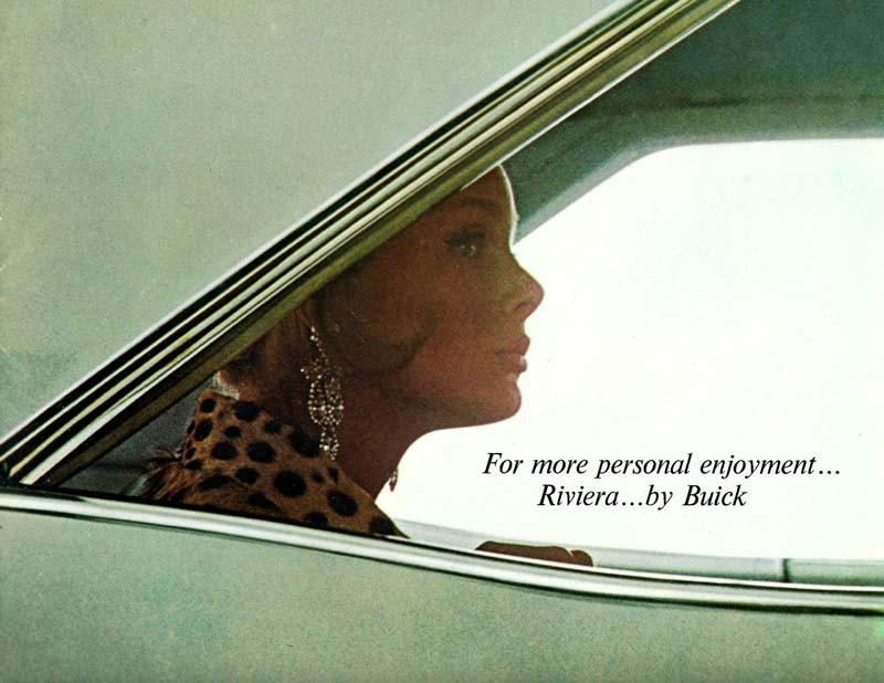 Buick Rivera annonserades så här sobert i broschyren 1963