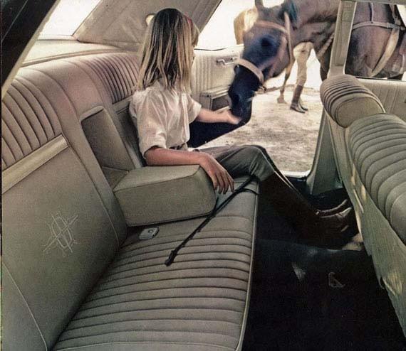 Så var det även i Lincoln 1967, fast hästen får inte komma med in.