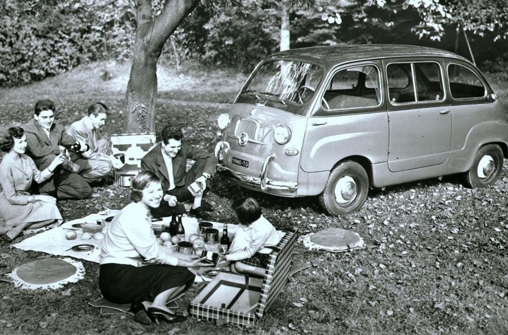 Allt detta fick plats i Fiat Multipla