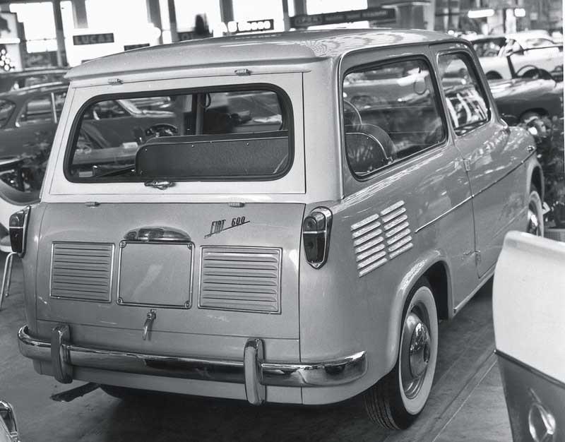 Scioneri gjorde denna nätta kombi på Fiat 600 1958.