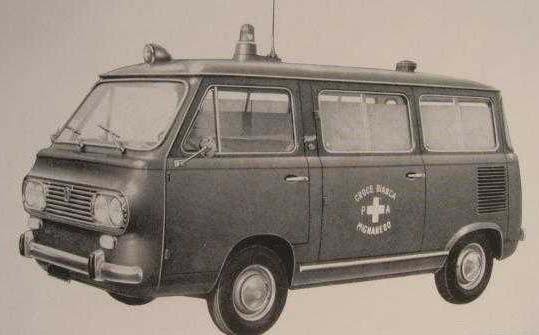850T 1965 som ambulalns från Grazia.