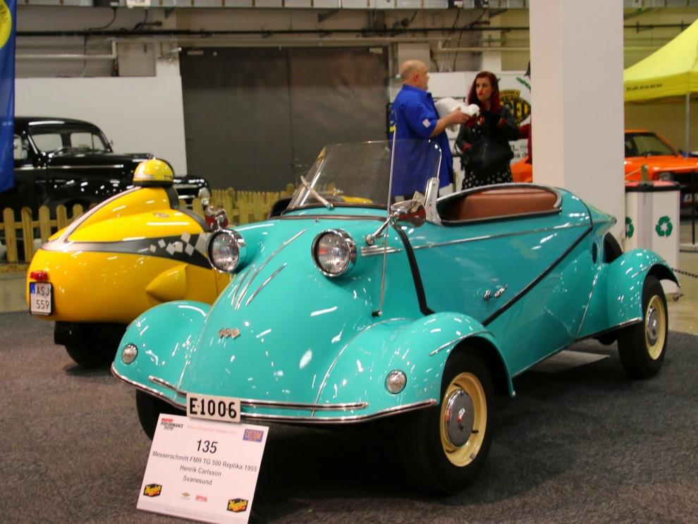 Bland de mest åtråvärda av alla dessa är ju dock Messerschitt Tiger som hade fyra hjul. Fast egentligen hette den varken Messerschmitt eller Tiger, utan FMR Tg500. Detta är en välbyggd replika, men en eller två skall ha funnits i Sverige förr i tiden.