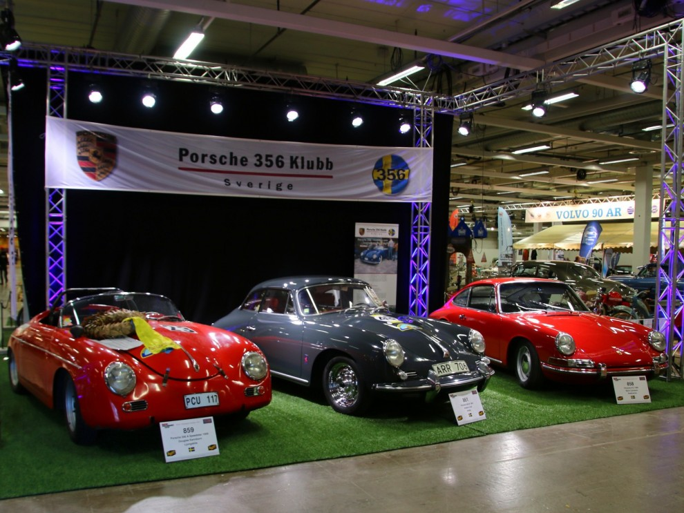 Porsche 356-klubben ställde ut två 356:or och en 912