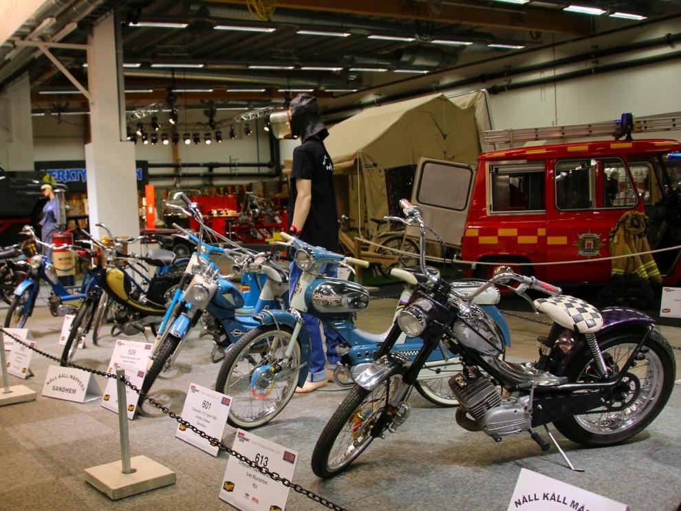 """Mopeder fick stort utrymme, det är ju 65 år sedan mopeden """"skapades"""""""
