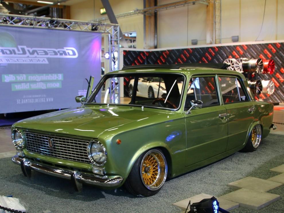 Ett av de mer udda stylignobjekten, en Lada från Finland.