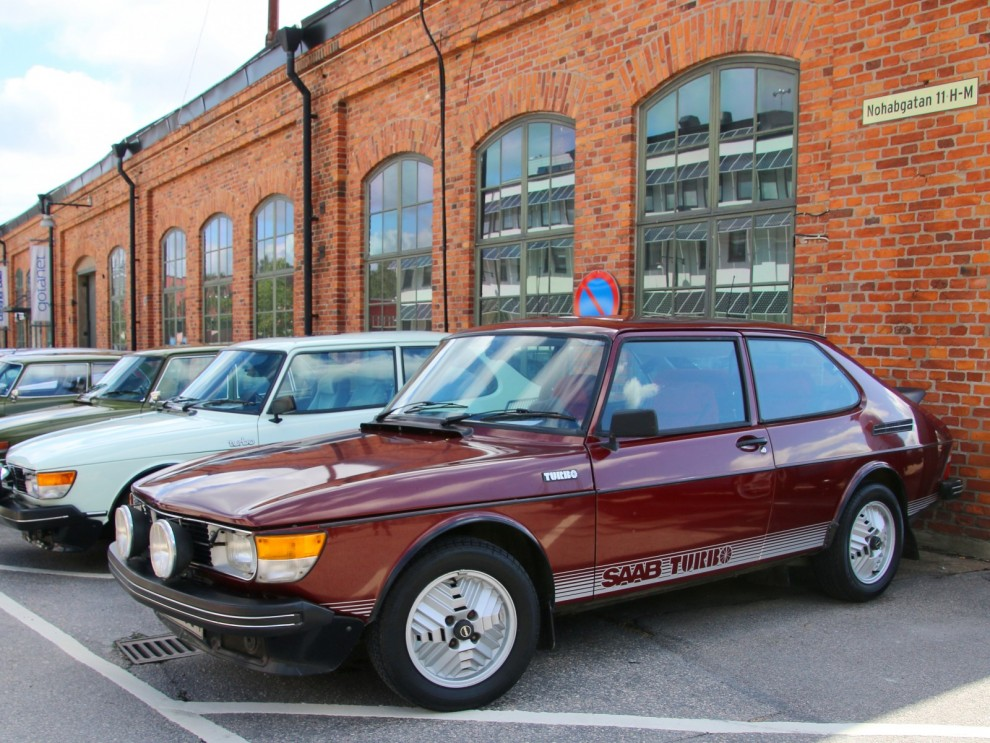 Saab Turbo fyller fyrtio och det firades givetvis, Turbobilarna stod i centrum för årets Saabfestival.