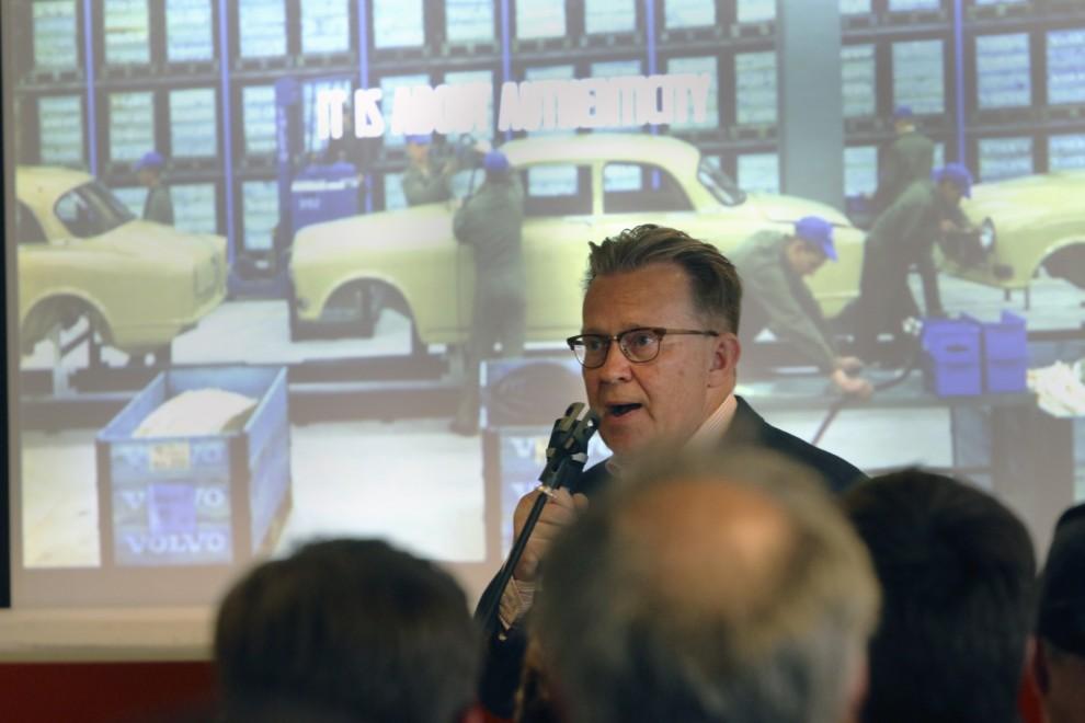 Per-Åke Fröberg som är ansvarig för Volvo Cars Heritage pratade om Volvos tidiga historia under lördagens middag.