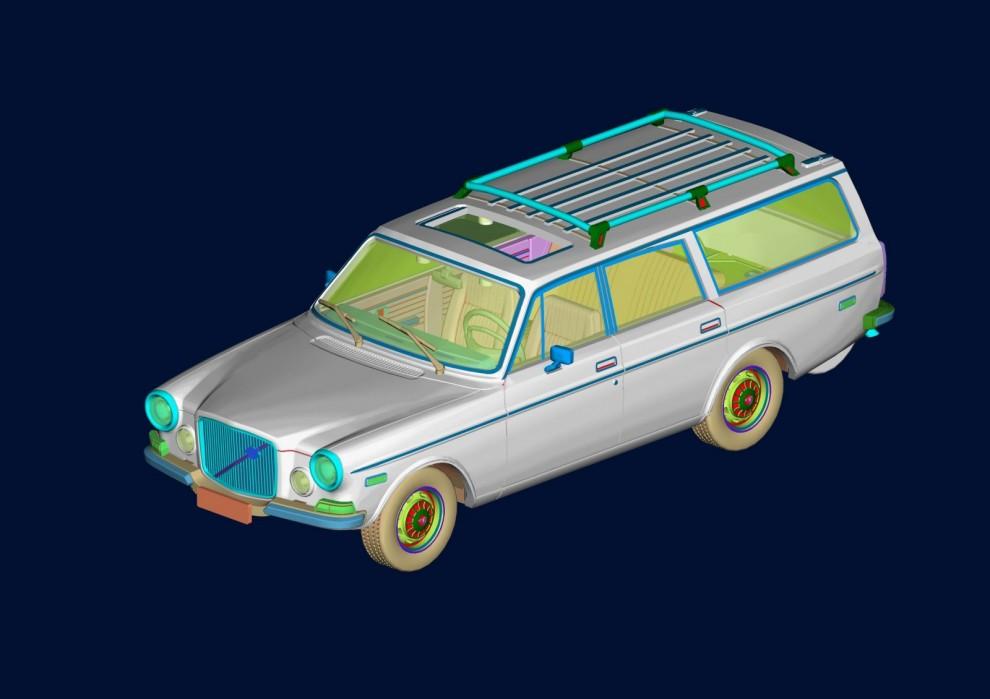 Digital 3D-bild som togs fram inför produktionen av modellbilen.