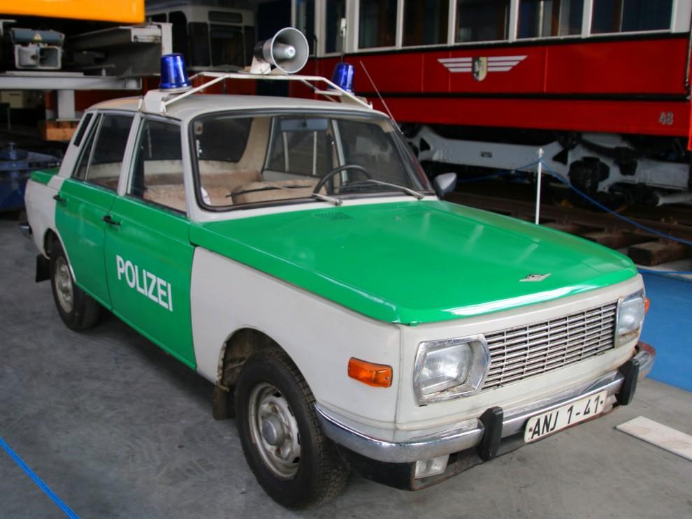 Wartburg 353 var vanlig som polisbil i den här delen av Tyskland förr.