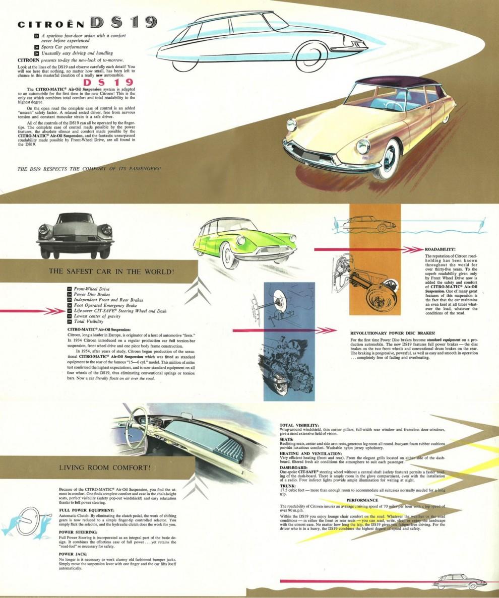 USA katalogen för Citroën 1957