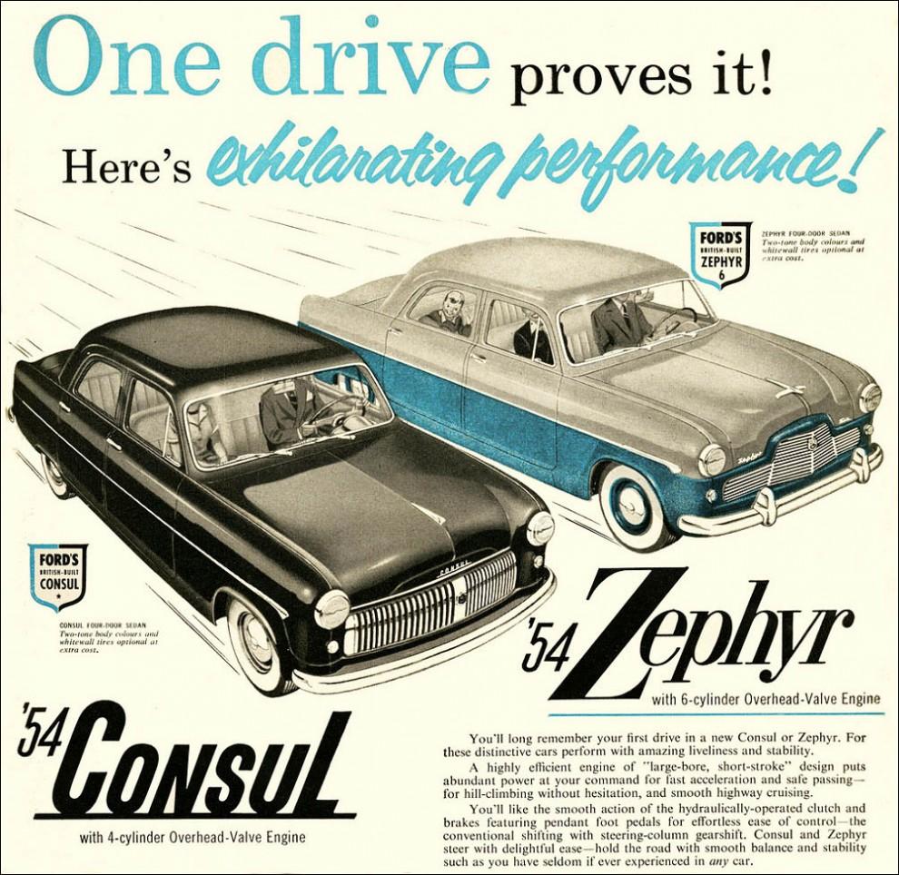 Zephyr och Consul såldes också i USA genom Ford.